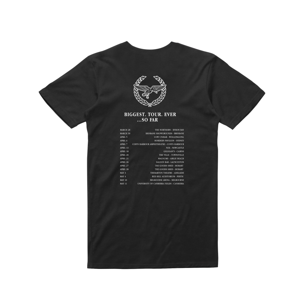 Tour / Black t-shirt