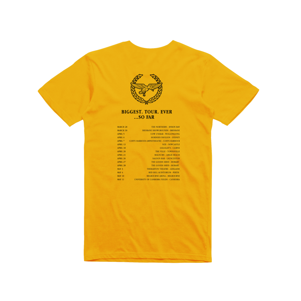 Tour / Gold t-shirt
