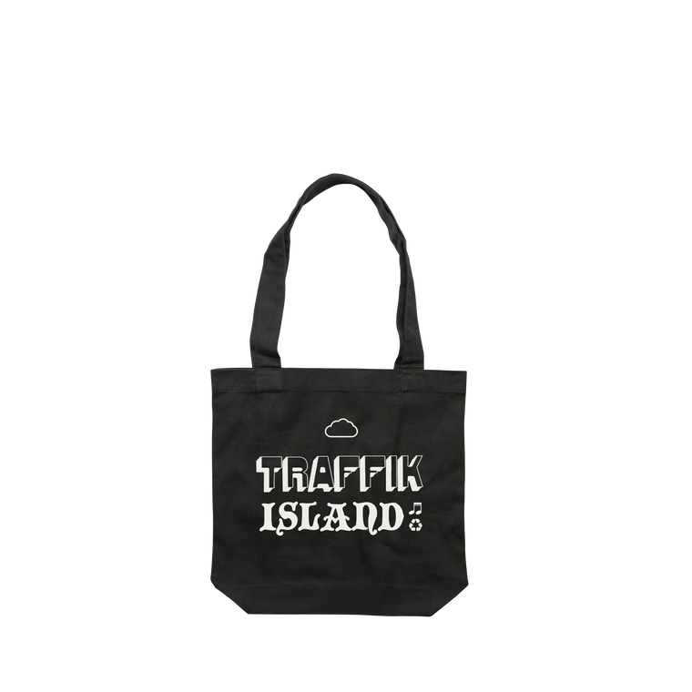 Cloud / Black Tote Bag