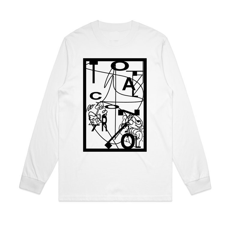 Total Control / Vincent Benefit T / White Long Sleeve ***PRE-ORDER***