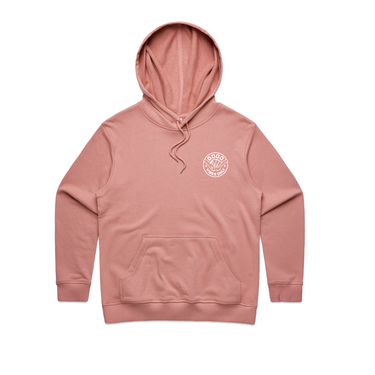Good Vibes Only Womens Hood / Rose