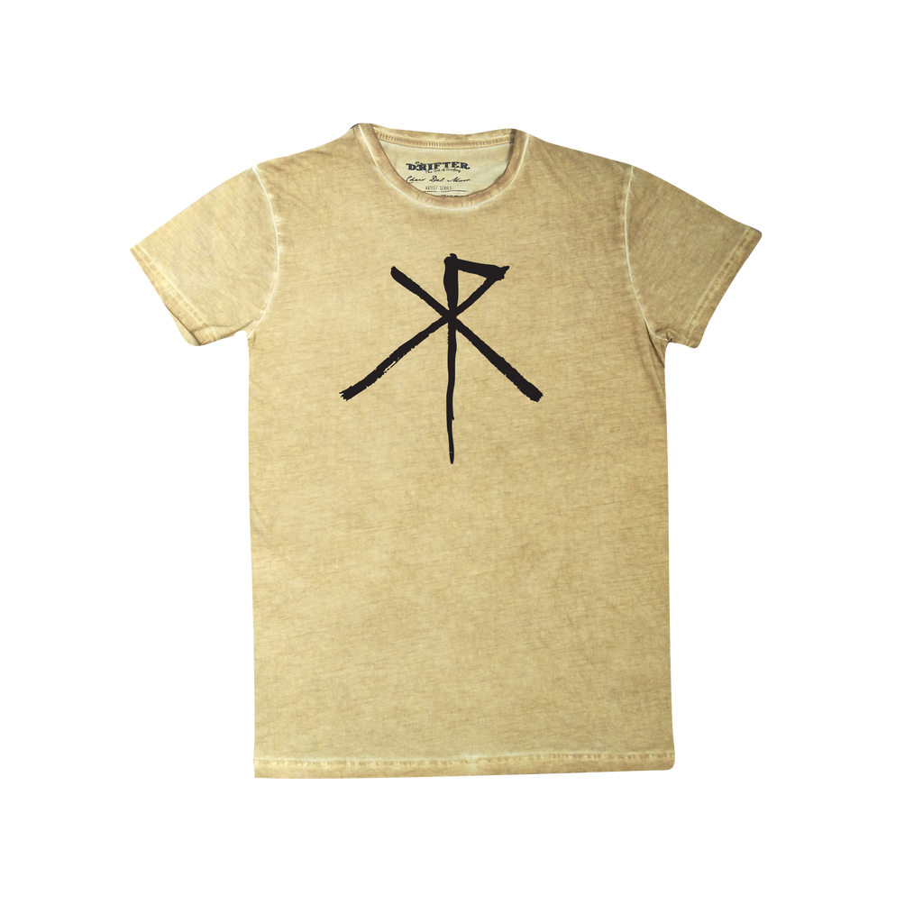 XR Logo / Mustard Acid Wash T-shirt
