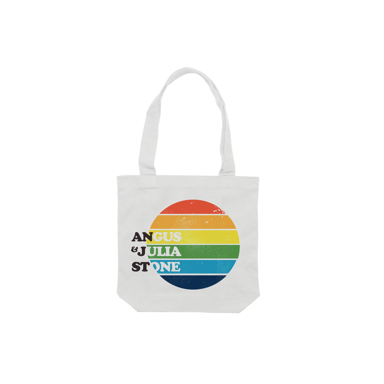 Rainbow / White Tote bag