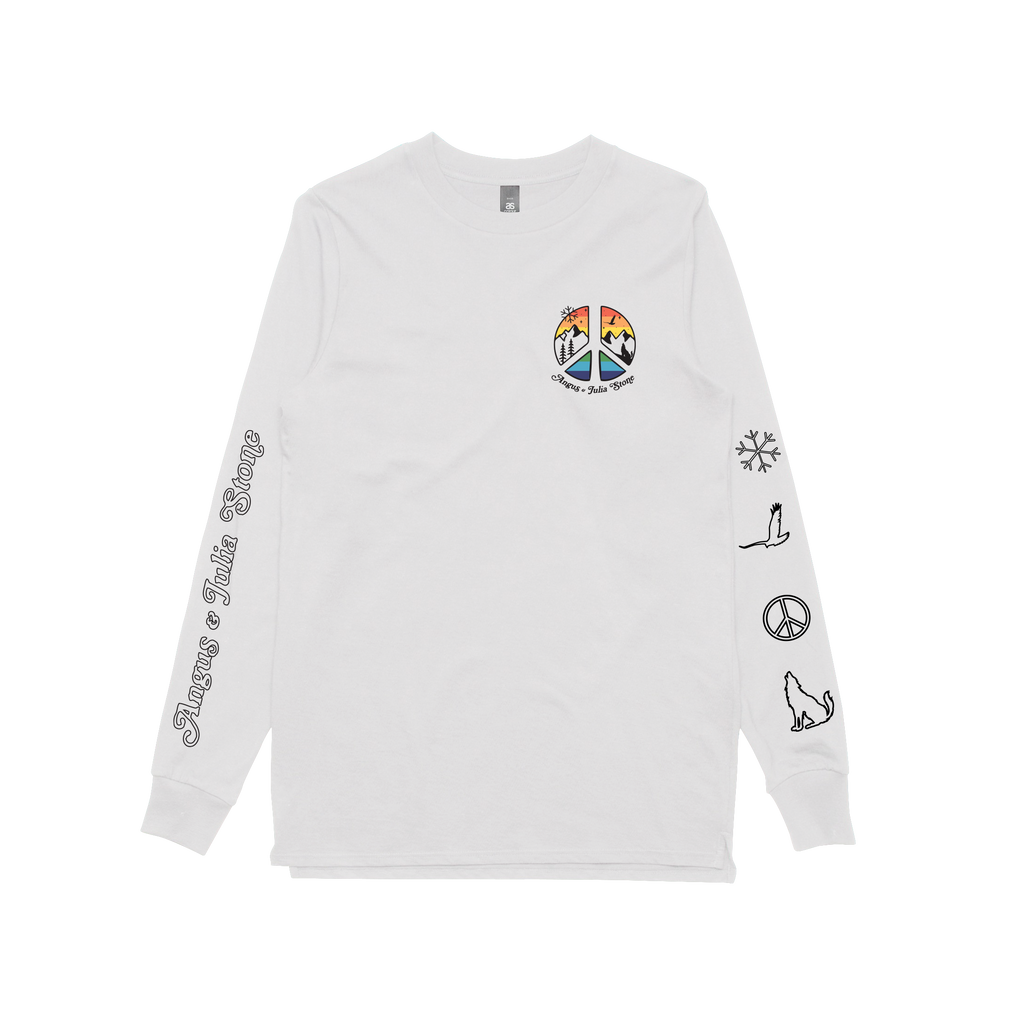 Peace / White Longsleeve T-shirt