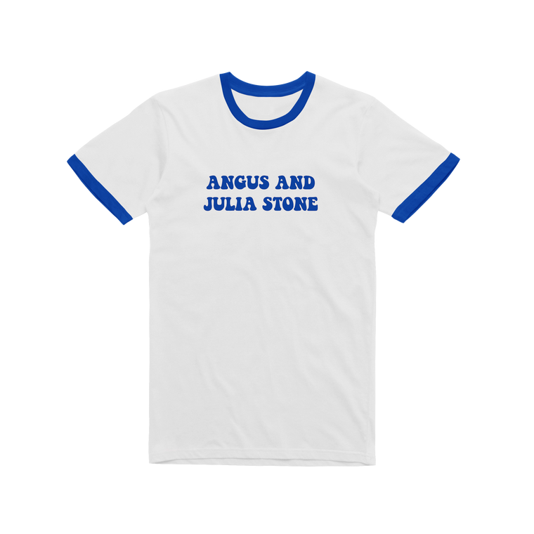 Angus and Julia / Blue Ringer T-shirt