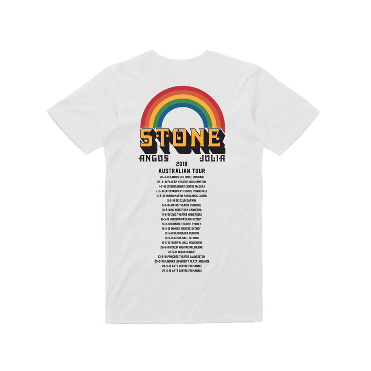 Australian 2018 Tour / Rainbow White T-shirt