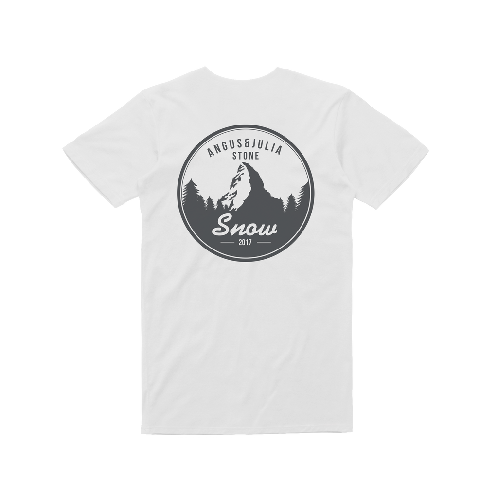 Snow Mountain/ White T-shirt