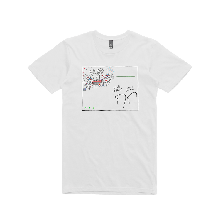 Serf Carnival / Men's White T-shirt