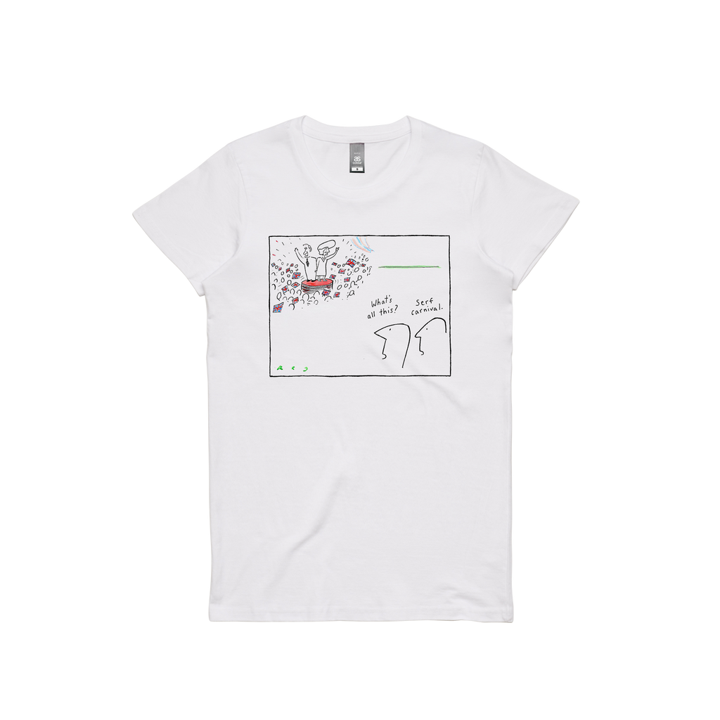 Serf Carnival / Women's White T-shirt