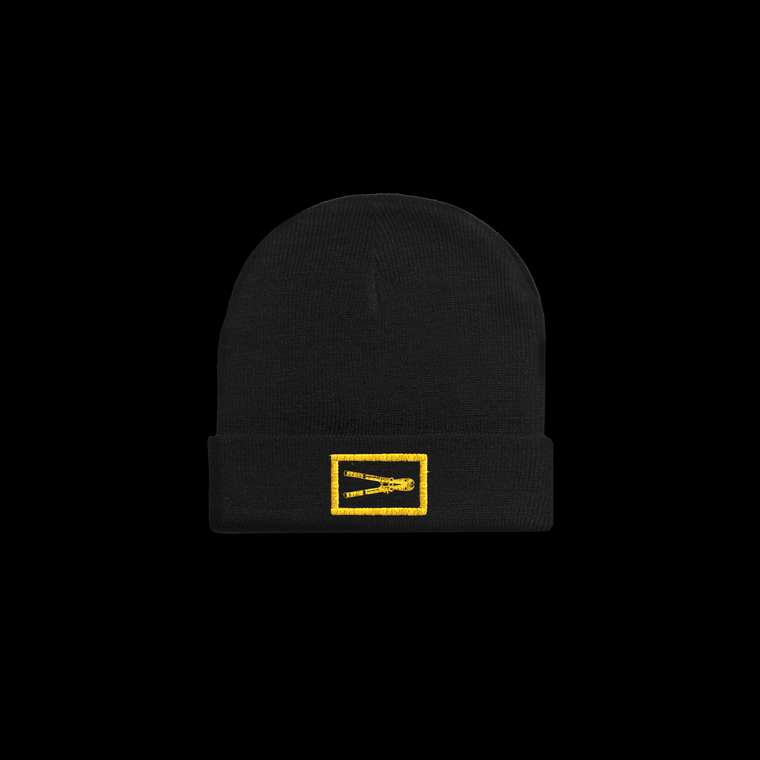 Embroidered Bolt Cutter Beanie / Black
