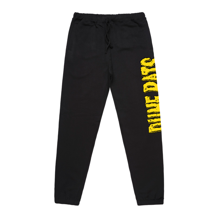 Cheese logo / Black Track Pants