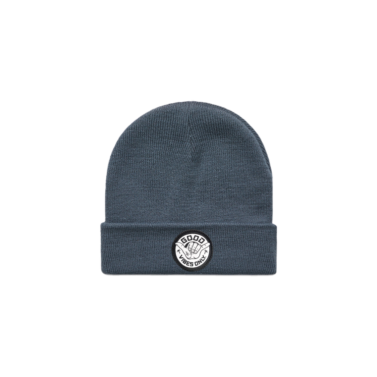 Good Vibes Only Beanie / Blue