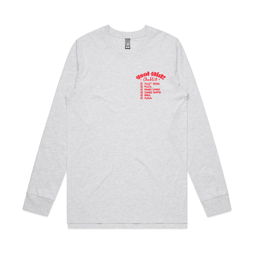 Checklist Long Sleeve / Ash Heather