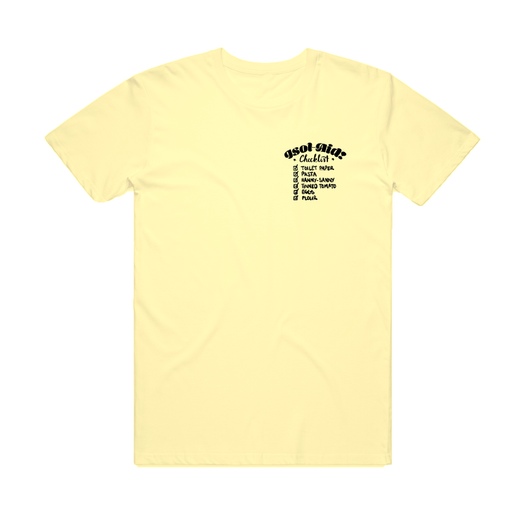 Checklist Tee / Pale Yellow