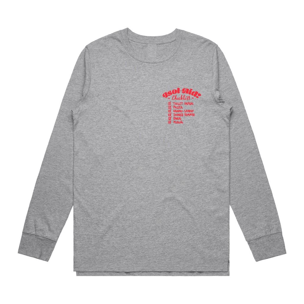 Checklist Long Sleeve / Sports Grey
