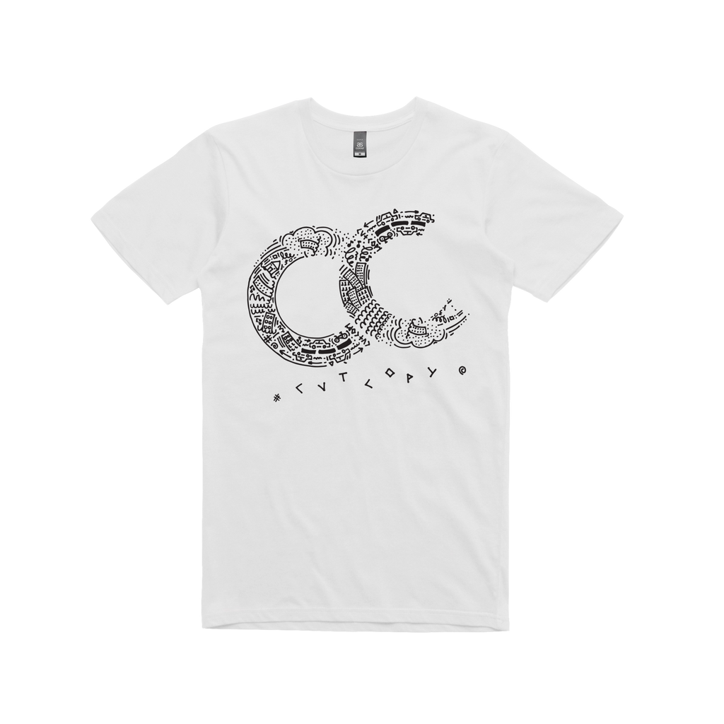CC / white t-shirt