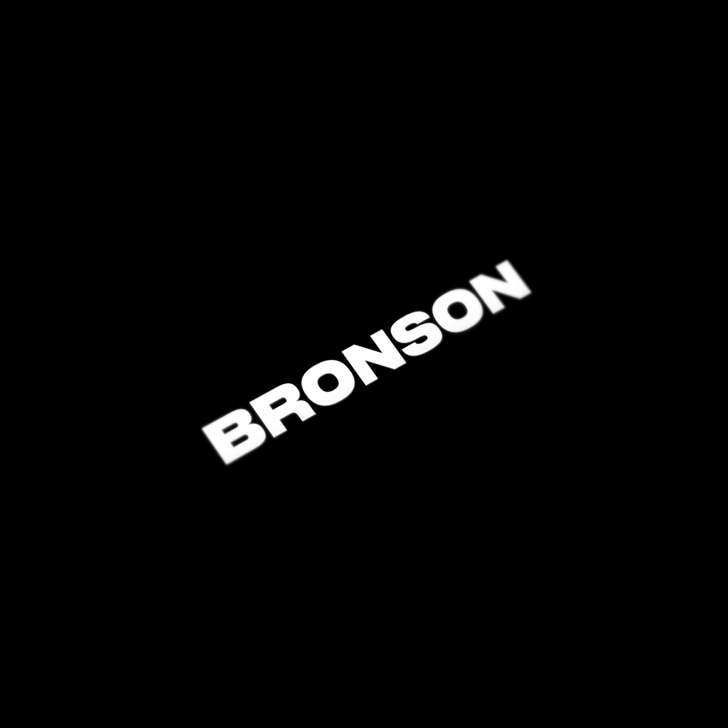 BRONSON Decal / White