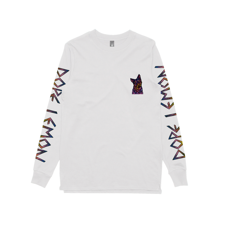 Hounds Tooth / White Longsleeve T-shirt