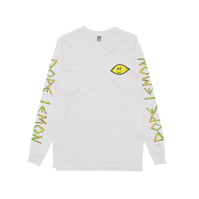 Lemon / White Longsleeve T-shirt