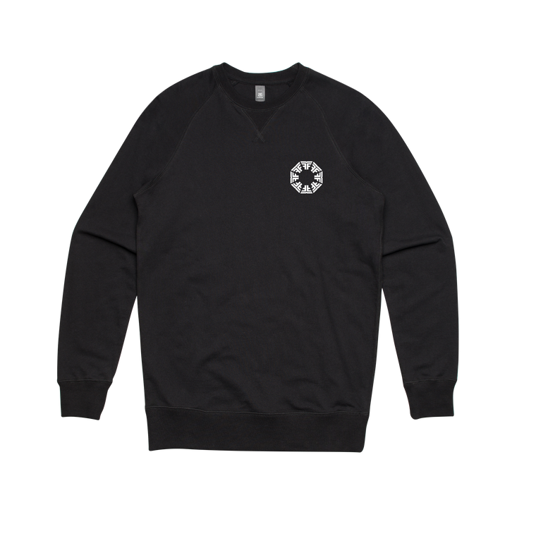 Octagon / Black Crew Sweater