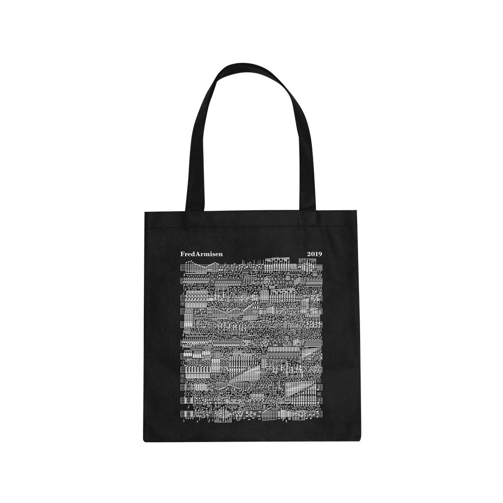 Music Notes / Black Tote