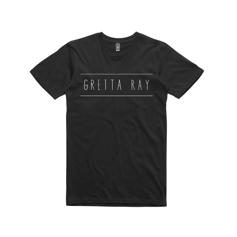 Gretta Ray Logo / Black T-shirt