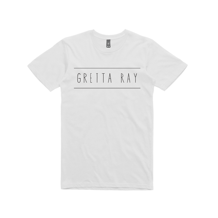 Gretta Ray Logo / White T-shirt