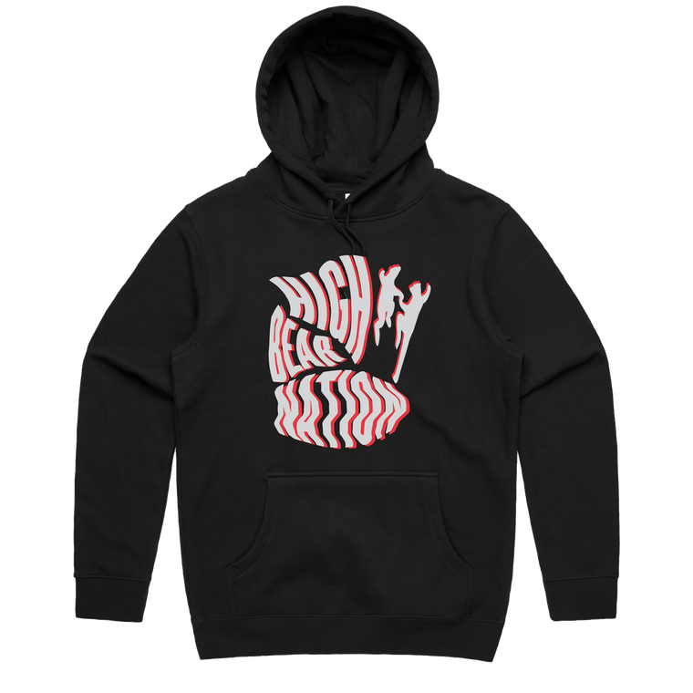 High Bear Nation Puff Print / Black Hood