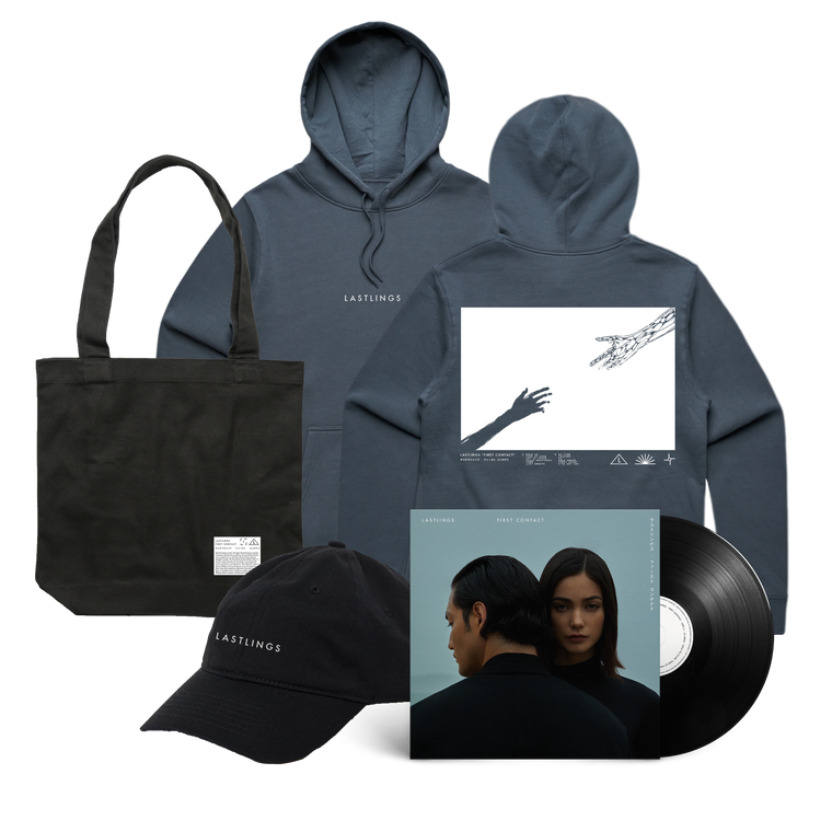 Lastlings / First Contact Hood & Vinyl & Hat & Tote Bundle
