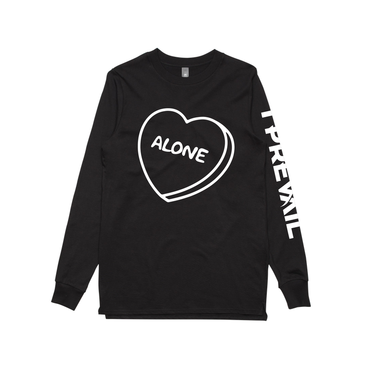 Alone / Black Long Sleeve T-shirt