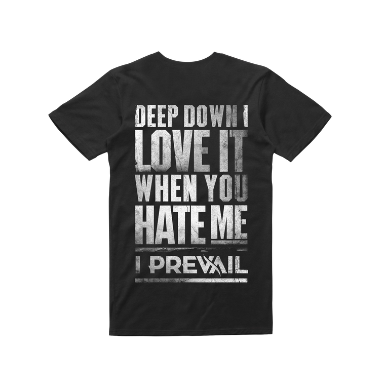 Love Hate / Black T-shirt