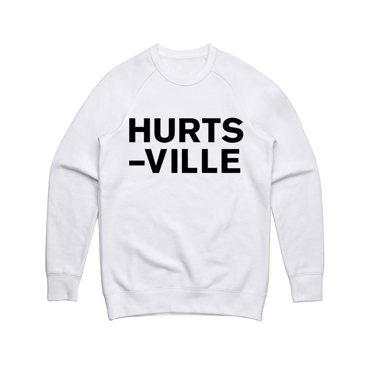 Hurts-Ville / Crewneck White