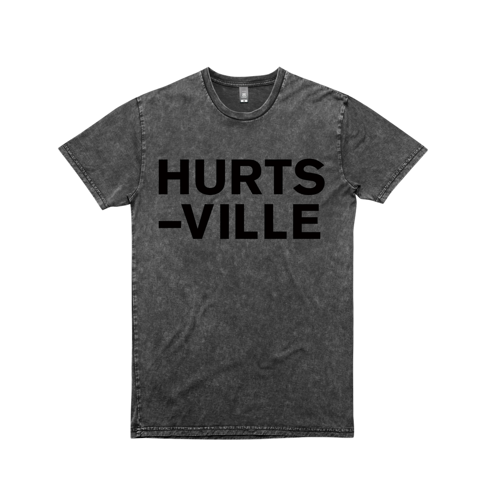 Hurts-Ville / t-shirt Acid Wash Black