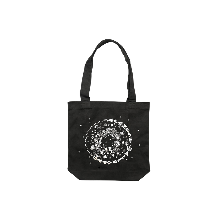 Garden / Black Tote Bag