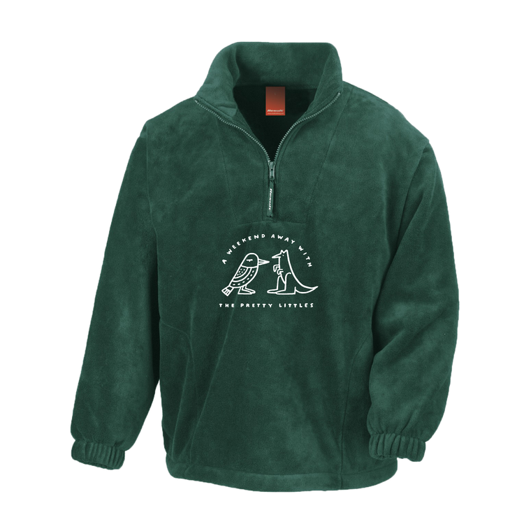 Weekend Away / Forest Green 1/4 Zip Jumper