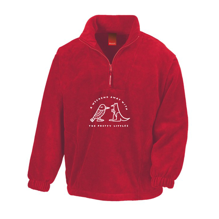 Weekend Away / Red 1/4 Zip Jumper