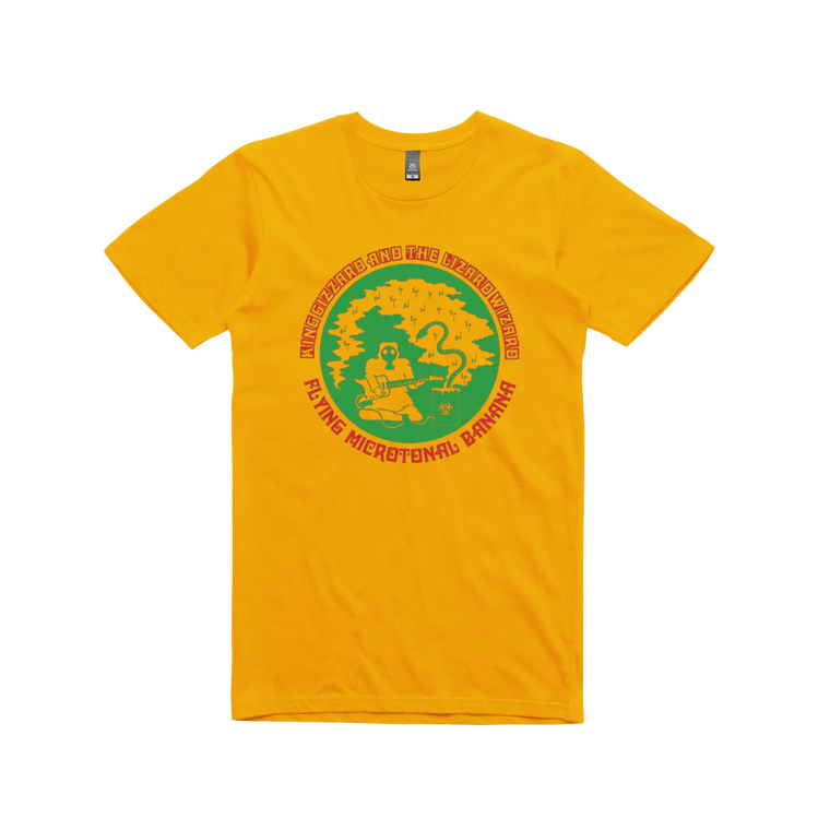 Flying Microtonal Banana / Gold T-shirt