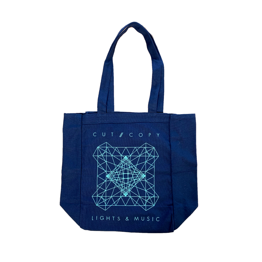 Lights and Sound / Blue Tote Bag