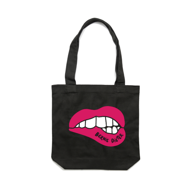 Lips / Black Tote Bag