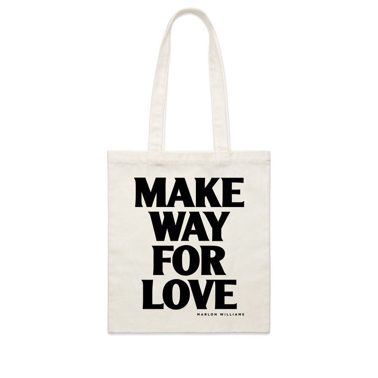 Make Way For Love / Cream Tote Bag