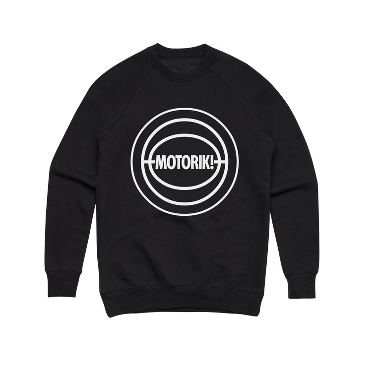 Motorik / Black Crew Neck Jumper