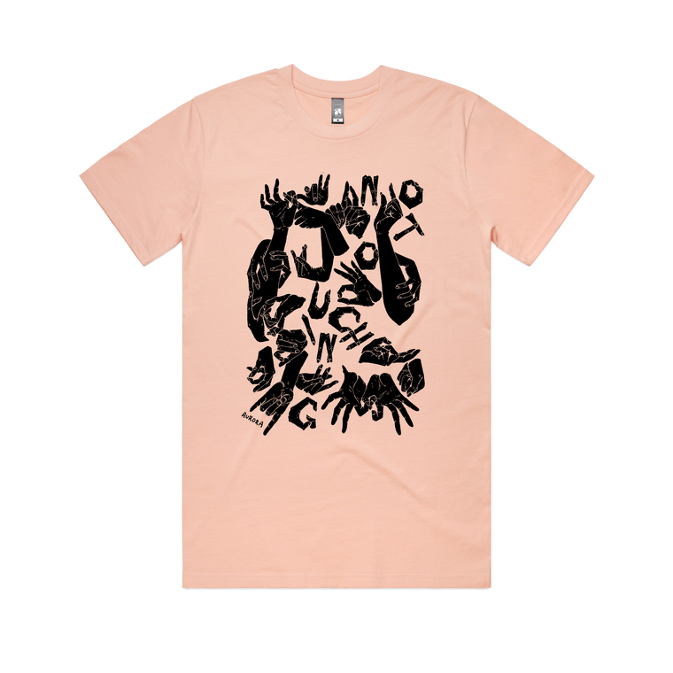 No Touching / Pale Pink T-shirt