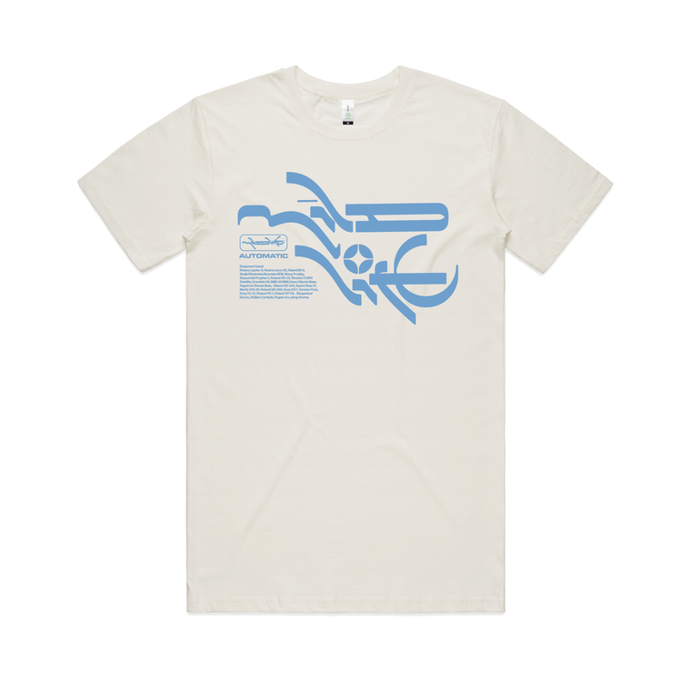 Mineral T-shirt / Natural & blue