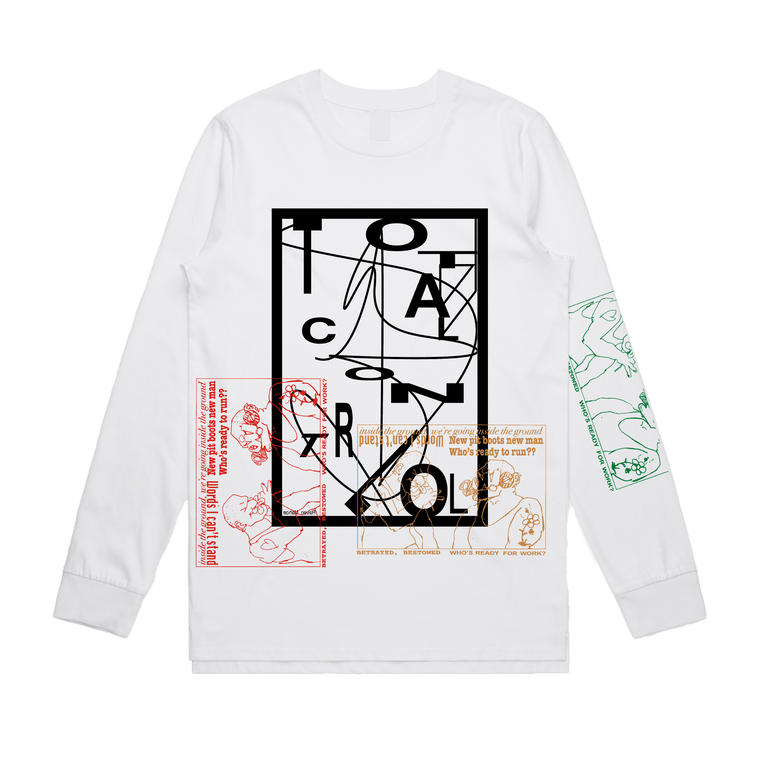 Ruby Overprint / White Long Sleeve