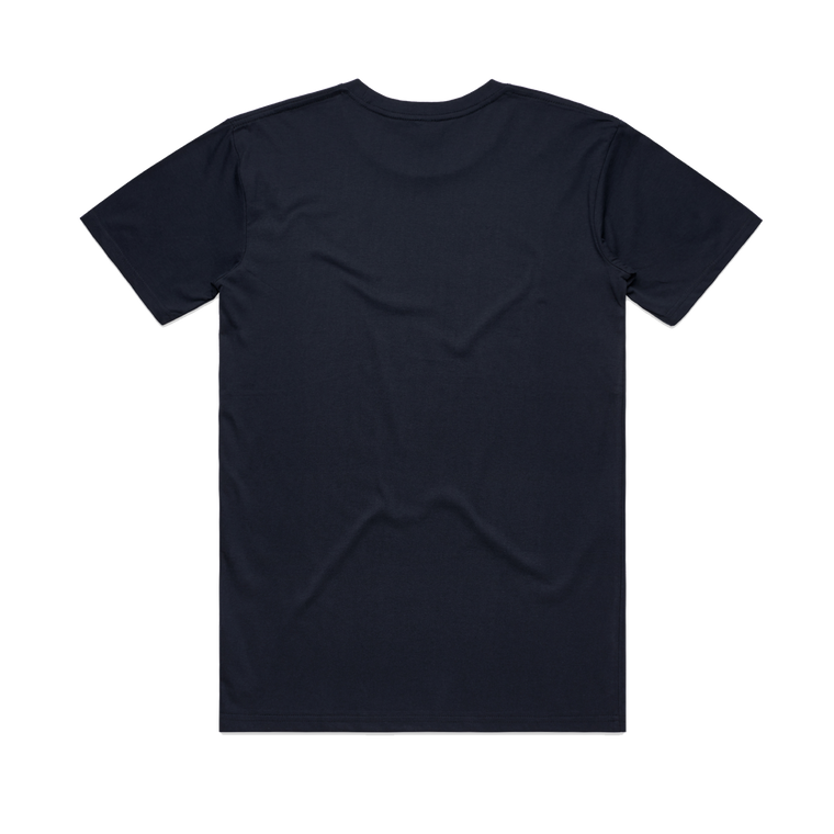 Pomegranate / Navy T-shirt