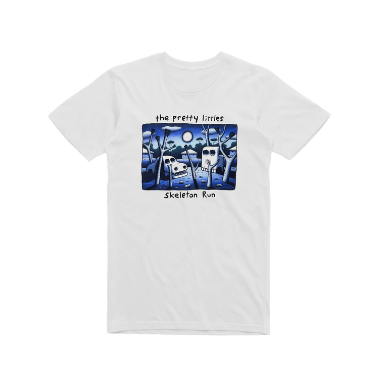 Skeleton Run / White T-shirt