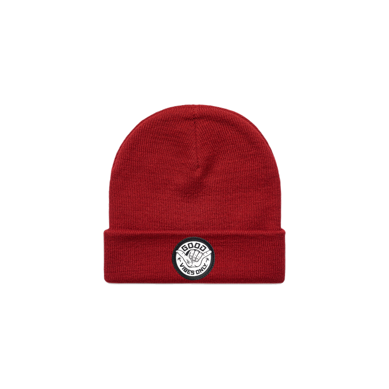 Good Vibes Only Beanie / Red