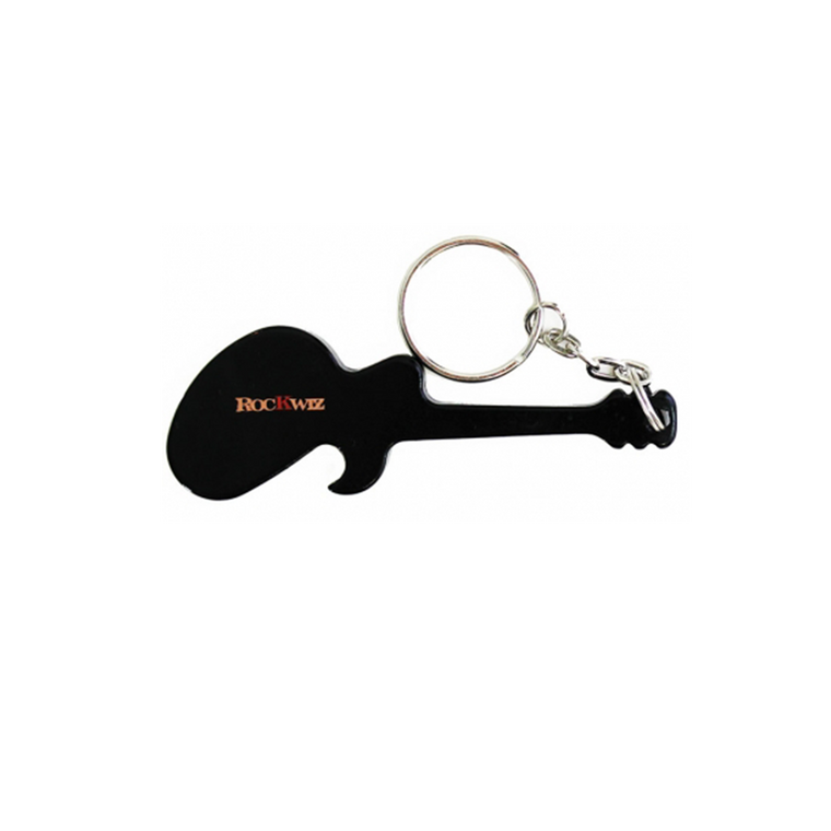 Guitar  / Black Key Ring Bottle Opener