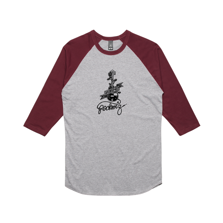 Guitar / Grey Raglan T-shirt