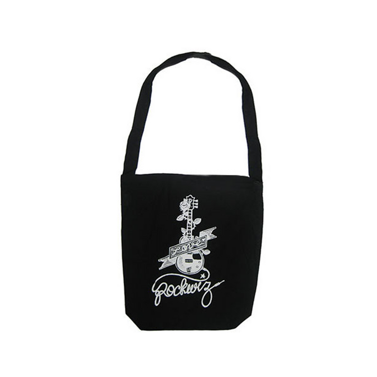 Guitar  / Black Tote Bag